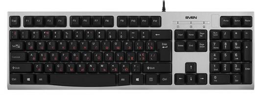 Фото - Клавиатура проводная Sven KB-S300 USB серебристый SV-016661 клавиатура проводная hama rossano usb белый серебристый r1050453