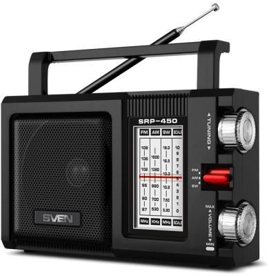 АС SVEN SRP-450, черный (3 Вт, FM/AM/SW)