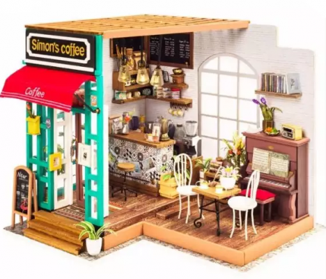 Конструктор Robotime Любимая кофейня 203 элемента конструктор robotime любимая кофейня 203 элемента