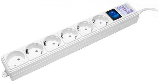 Surge protector Power Cube 1,9 m 6 outlets (white) 16A / 3,5kVt roland m cube gx