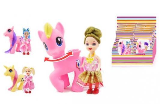 Игровой набор Наша Игрушка Кукла с лошадкой steffi игровой набор кукла с лошадкой