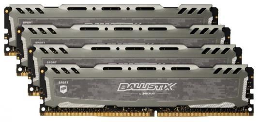 Оперативная память 16Gb (4x4Gb) PC4-19200 2400MHz DDR4 DIMM CL16 Crucial BLS4K4G4D240FSB оперативная память 16gb 4x4gb pc4 24000 3000mhz ddr4 dimm crucial blt4c4g4d30aeta
