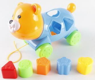 Каталка сортер мишка, цвет в ассорт. в сетке в кор.2*36шт цена 2017