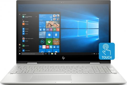 Ноутбук HP Envy x360 15-cn0008ur <4HC88EA> i5-8250U(1.6)/16Gb/1Tb+256Gb SSD/15.6 FHD IPS touch/NV GeForce MX150 4GB/Cam HD/Win10 (Natural silver)- Tr ноутбук hp pavilion 15 cs0023ur 4ju98ea core i5 8250u 4gb 1tb 16gb optane nv mx150 2gb 15 6 fullhd win10 rose gold