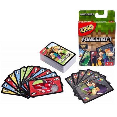 Напольная игра MATTEL карточная Уно Майнкрафт mattel настольная игра mattel games uno уно маленькие животные