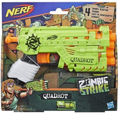 Водяной автомат HASBRO Zombie Strike Quadrot оранжевый желтый
