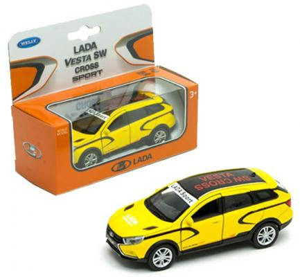 Автомобиль WELLY Lada Vesta SW Cross. Sport 1:34-39 разноцветный 43763RY машинка welly lada vesta sw cross 1 34 39