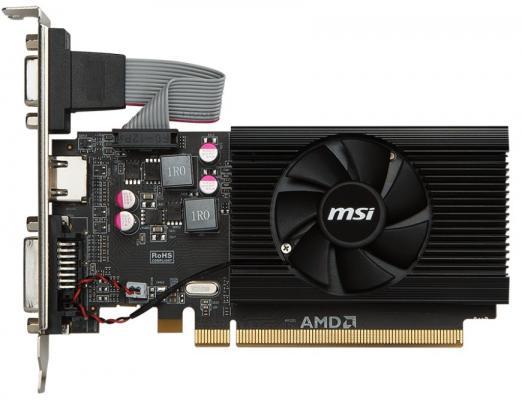 Видеокарта 2048Mb MSI Radeon R7 240 Radeon R7 240 PCI-E 2048Mb GDDR3 64 Bit Retail R7 240 2GD3 64B LP б/у все цены