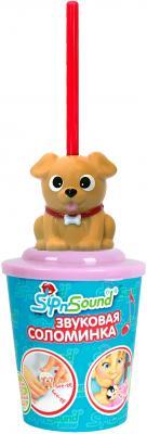 Звуковая соломинка SIP AND SOUND Собака коричневая 16006-3 sound and lighting