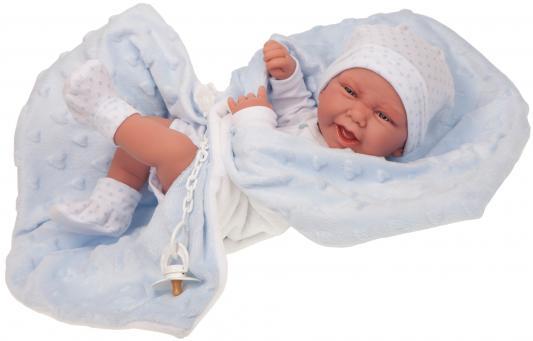 Кукла-младенец JUAN ANTONIO Матео в голубом 42 см juan antonio пупс санти в голубом костюме