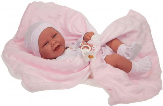 Купить Кукла-младенец JUAN ANTONIO Ирен в розовом 42 см, винил, наполнитель, Куклы Munecas Antonio Juan