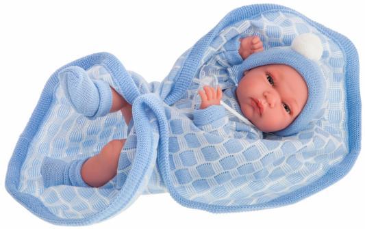 Кукла-младенец JUAN ANTONIO Адольфо в голубом 33 см juan antonio пупс санти в голубом костюме