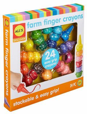 Набор ALEX Мелки на пальчики 24 цвета 24 штуки стеклянные пальчики glass fingers набор