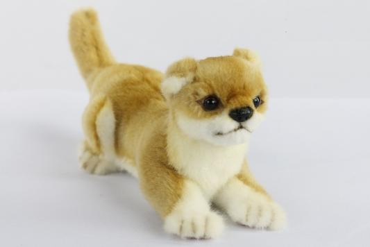 Купить Мягкая игрушка щенок Hansa Щенок Сиба-ину текстиль искусственный мех пластик металл 19 см, разноцветный, искусственный мех, пластик, текстиль, металл, Животные