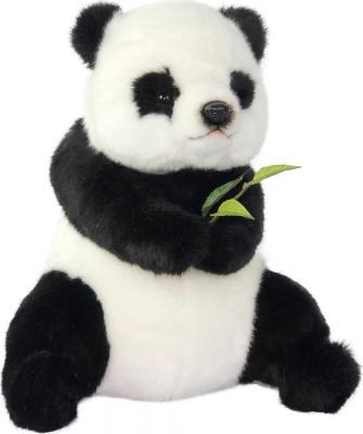 Купить Мягкая игрушка панда Hansa Панда сидящая текстиль белый черный 26 см, белый, черный, Животные