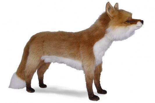Мягкая игрушка лисица Hansa Лиса искусственный мех оранжевый белый 90 см