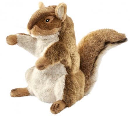 Купить Игрушка на руку белка Hansa Рыжая белка искусственный мех коричневый 28 см, Животные