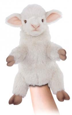 Игрушка на руку овечка Hansa Овечка искусственный мех белый 27 см кукла на руку beleduc овечка