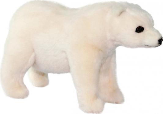 Мягкая игрушка медведь Hansa Полярный медведь стоящий текстиль белый 30 см цена