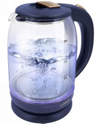 Чайник электрический Lumme LU-142 1800 Вт синий сапфир 2 л пластик/стекло чайник электрический lumme lu 142 серый гранит