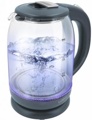 Чайник электрический Lumme LU-142 1800 Вт серый гранит 2 л пластик/стекло чайник электрический lumme lu 142 серый гранит