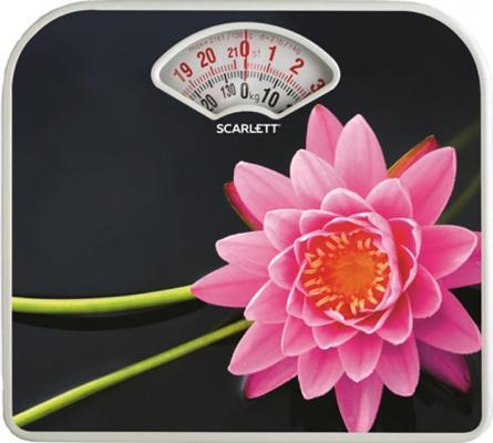Весы напольные механические Scarlett SC-BS33M043 макс.130кг рисунок/SPA лотус весы scarlett sc bs33e064