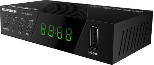 цена на Ресивер DVB-T2 Telefunken TF-DVBT226 черный
