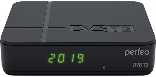 "Perfeo DVB-T2/C приставка ""COMBI"" для цифр.TV, Wi-Fi, IPTV, HDMI, 2 USB, DolbyDigital, обуч.пульт ДУ"