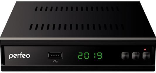 "Perfeo DVB-T2/C приставка ""MEDIUM"" для цифр.TV, Wi-Fi, IPTV, HDMI, 2 USB, DolbyDigital, обуч.пультДУ"