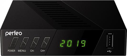 Perfeo DVB-T2/C приставка STREAM-2 для цифр.TV, Wi-Fi, IPTV, HDMI, 2 USB, DolbyDigital, пульт ДУ