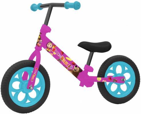 Беговел, Navigator Маша и Медведь, колеса 12, стальная рама, пластиковые обода, EVA покрышки, девочка беговел navigator balance pink т59951