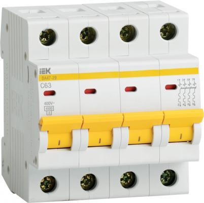 Iek MVA20-4-010-C Авт. выкл.ВА47-29 4Р 10А 4,5кА х-ка С ИЭК цена
