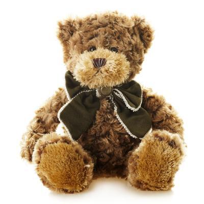 Мягкая игрушка Мишка Рино с Бантом MAXITOYS TS-A5529-32B искусственный мех трикотаж коричневый 23 см недорго, оригинальная цена