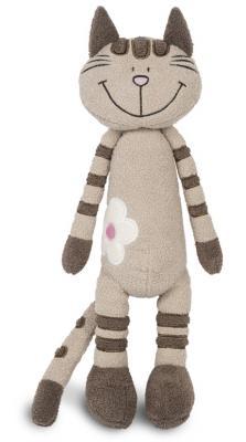 Купить Мягкая игрушка Кот Полосатик с Цветочко MAXITOYS MT-MRT031323-33 искусственный мех трикотаж серый 33 см, искусственный мех, трикотаж, Животные