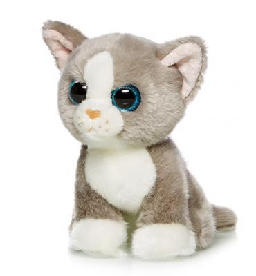 Купить Мягкая игрушка котенок MAXILIFE MT-TSC091401-18B искусственный мех полиэфирное волокно белый серый 18 см, белый, серый, искусственный мех, полиэфирное волокно, Животные