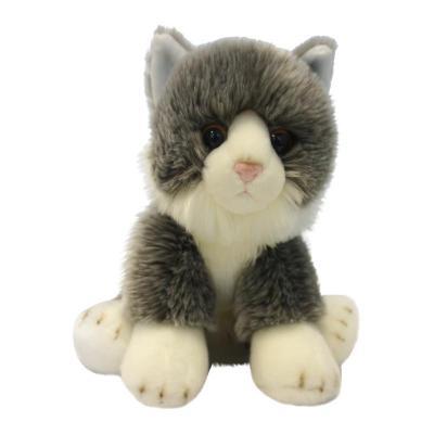 Купить Мягкая игрушка Котик MAXILIFE Котик Серый искусственный мех трикотаж полиэфирное волокно пластик белый серый 30 см, белый, серый, искусственный мех, пластик, трикотаж, полиэфирное волокно, Животные