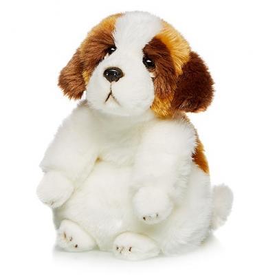 Мягкая игрушка Сенбернар MAXILIFE MT-TSC091410-24B искусственный мех трикотаж белый коричневый 24 см стоимость