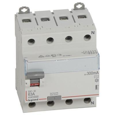 Legrand 411724 Выключатель дифференциального тока DX?-ID - 4П - 400 В~ - 63 А - тип AC - 300 мА - 4 модуля