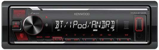 Автомагнитола Kenwood KMM-BT205 1DIN 4x50Вт автомагнитола kenwood flash kmm 125