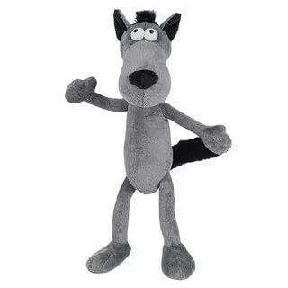 Мягкая игрушка волк Гнутики Волчок-Серый Бочок искусственный мех трикотаж металл серый черный 22 см мягкая игрушка волчок серый бочок 22 см