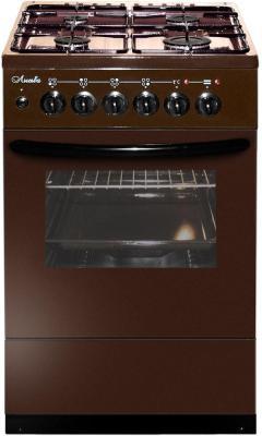 Плита Комбинированная Лысьва ЭГ 404 М2С-2у коричневый (стеклянная крышка) реш.чугун цена