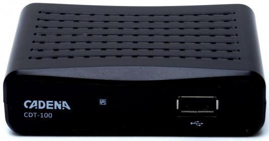 Фото - Ресивер DVB-T2 Cadena CDT-100 черный tv тюнер cadena cdt 1815sbd черный