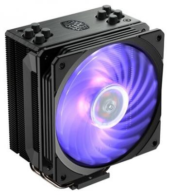 Cooler Master CPU Cooler Hyper 212 RGB Black Edition, 650 - 2000 RPM, 180W, Full Socket Support цена и фото