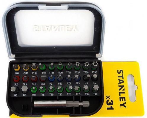 Набор бит STANLEY STA60490-XJ магн. держатель 31шт цена