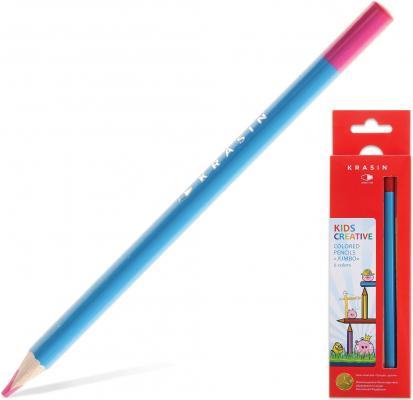 """Набор цветных карандашей Красин Jumbo """"Птички - Невелички"""" 06KW000202T 6 шт 177 мм утолщенные"""