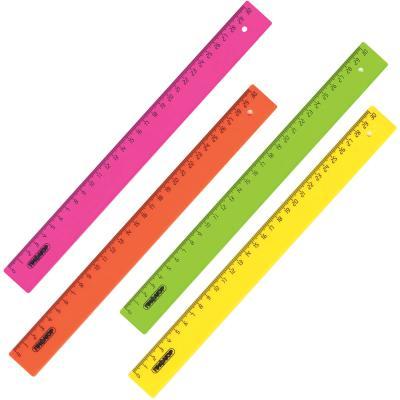 Фото - Линейка пластиковая 30 см, ПИФАГОР, непрозрачная, неоновая, ассорти, 210608 линейка деревянная 30 см пифагор 210669