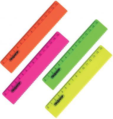 Фото - Линейка пластиковая 15 см, ПИФАГОР, неоновая, ассорти, с волнистым краем, 210614 линейка деревянная 30 см пифагор 210669
