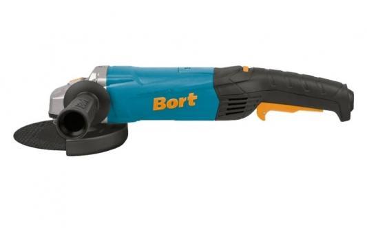 Bort BWS-1200 Машина шлифовальная угловая [98296617] { 1200 Вт, 11000 об/мин, 125 мм, М14, 2,4 кг, набор аксессуаров 4 шт } машина шлифовальная угловая bort bws 2400x 2400 вт