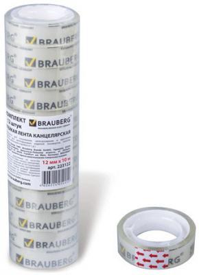 Фото - Клейкая лента BRAUBERG 223122 12мм x 10 м канцелярские комплект 12 шт. клейкая лента 12мм 10м