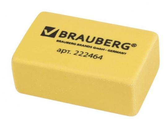 Резинка стирательная BRAUBERG 222464 1 шт прямоугольный резинка стирательная maped essentials soft 13 1 шт прямоугольный